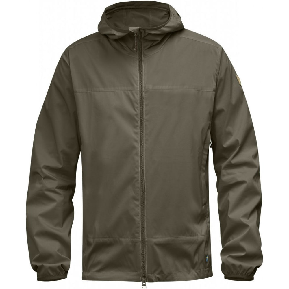 FJALLRAVEN Men's Abisko Windbreaker Jacket - TARMAC