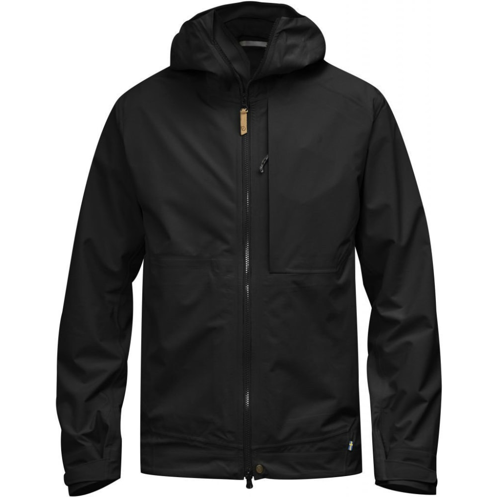 FJALLRAVEN Men's Abisko Eco-Shell Jacket - BLACK