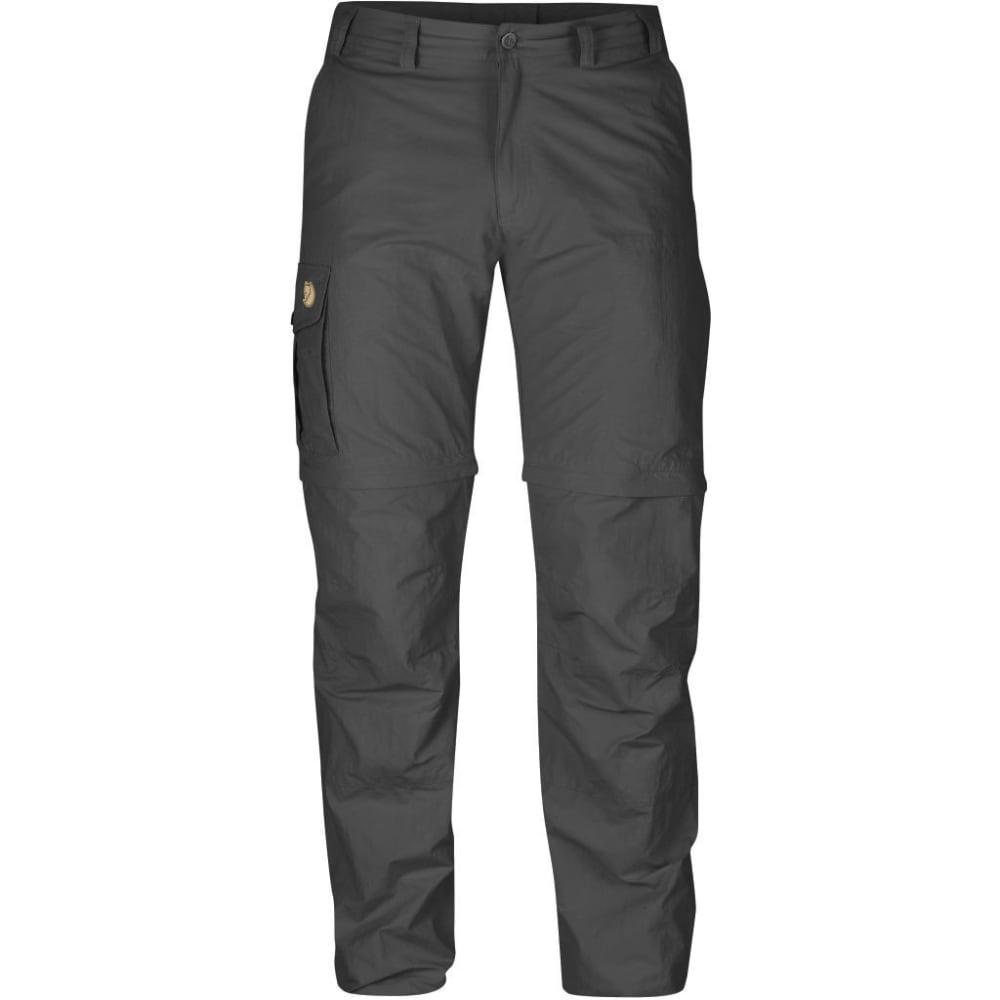 FJALLRAVEN Men's Karl Zip-Off MT Trousers - DARK GREY