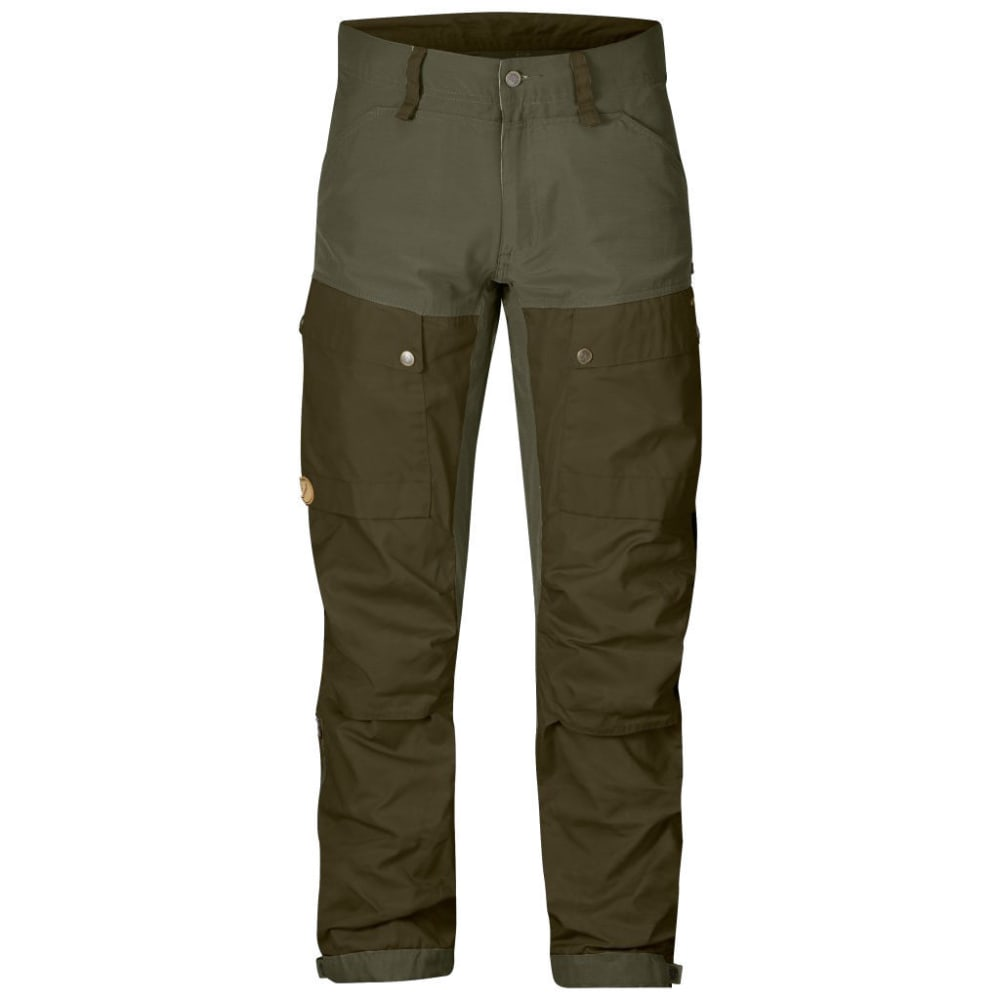 FJALLRAVEN Men's Keb Trousers Regular - TARMAC/DARK OLIVE