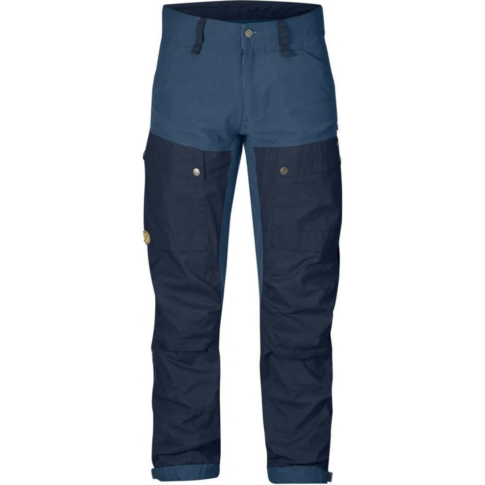 FJALLRAVEN Men's Keb Trousers Regular - DARK NAVY/UNCLE BLUE