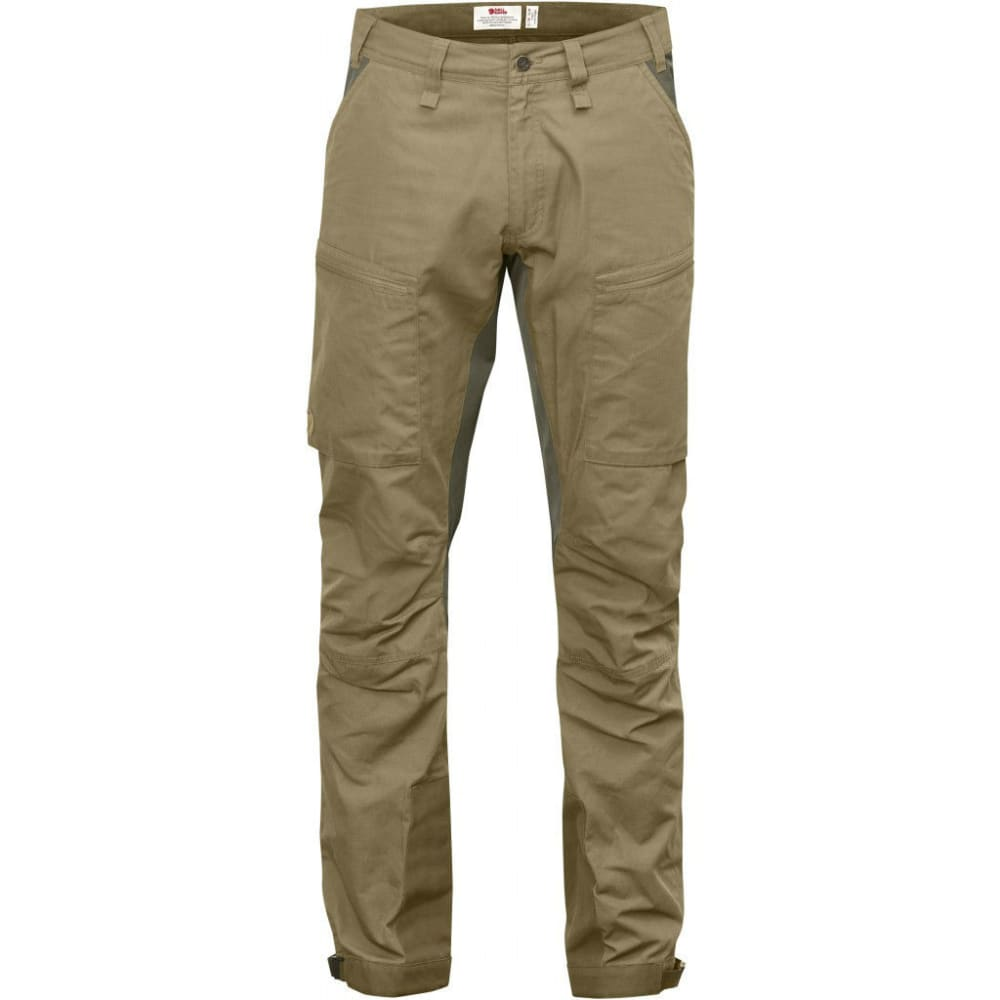 FJALLRAVEN Men's Abisko Lite Trekking Trousers Regular - SAND/TARMAC