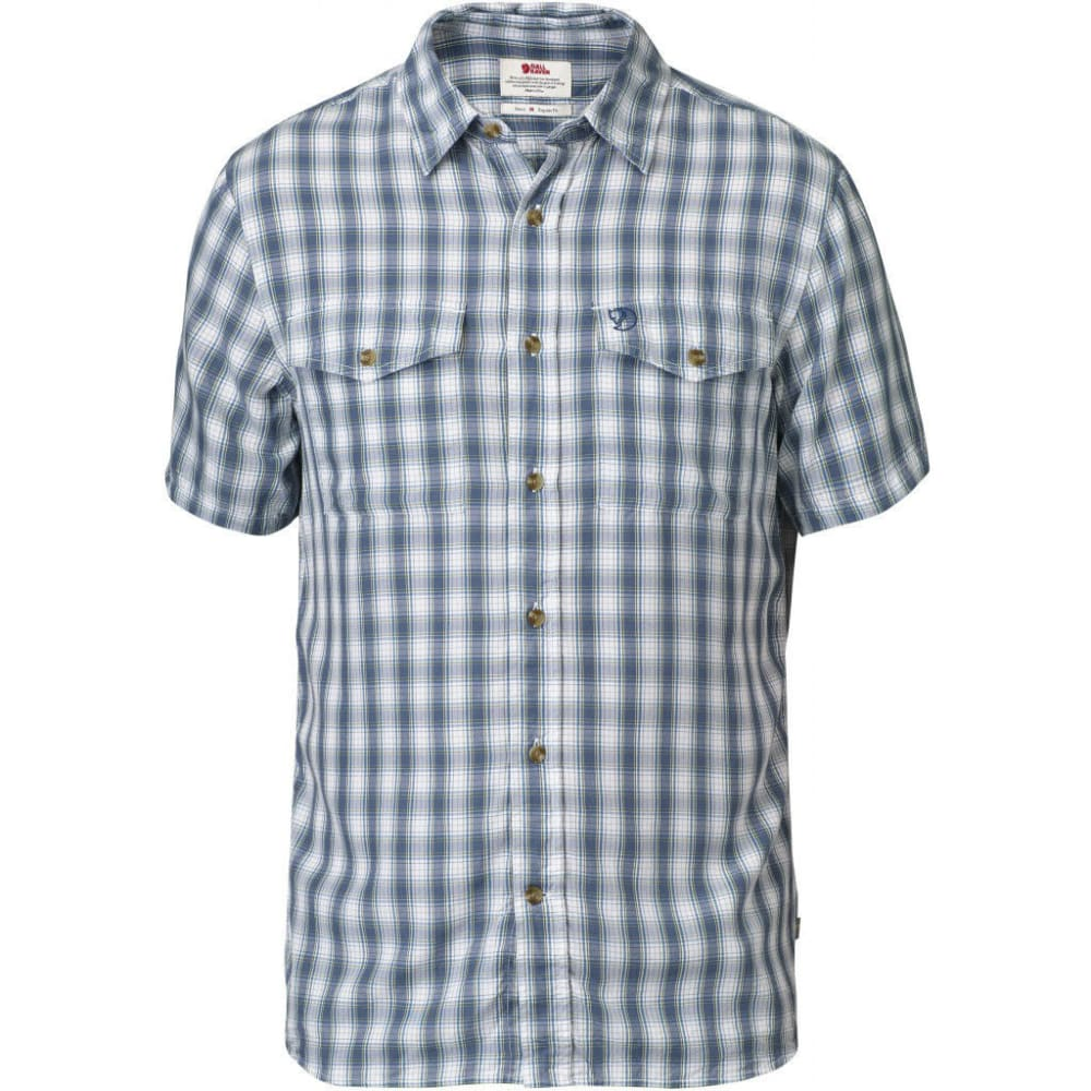 FJÄLLRÄVEN Men's Abisko Cool Short-Sleeve Shirt - LAKE BLUE