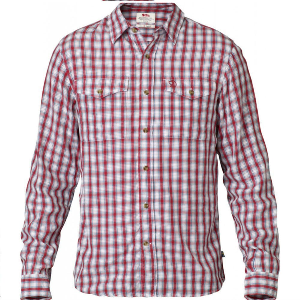 FJÄLLRÄVEN Men's Abisko Cool Long-Sleeve Shirt - RED
