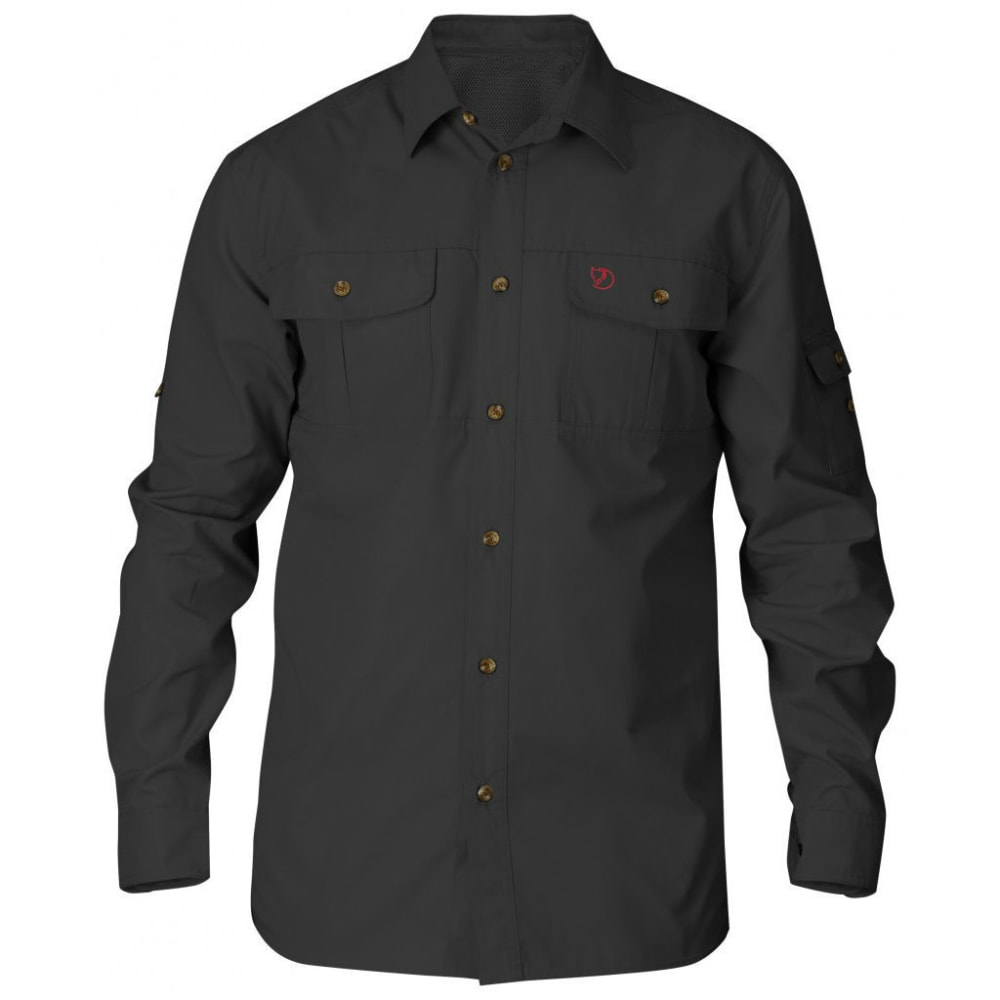 FJALLRAVEN Men's Sarek Long-Sleeve Shirt - DARK GREY