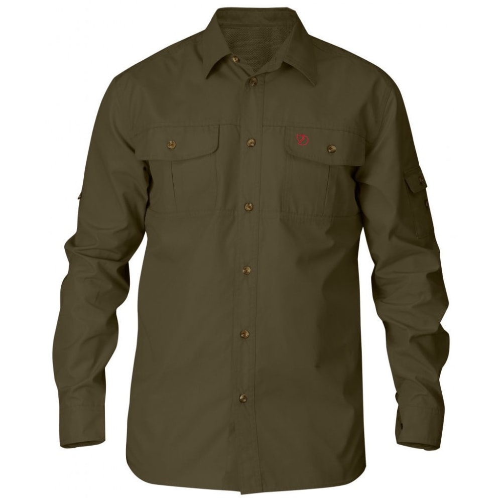 FJALLRAVEN Men's Sarek Long-Sleeve Shirt - DARK OLIVE