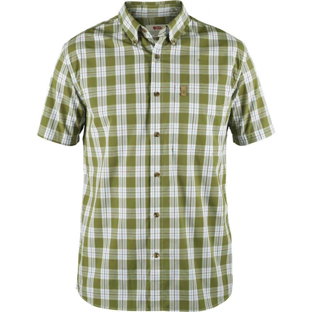 FJÄLLRÄVEN Men's Ovik Button Down Short-Sleeve Shirt - MEADOW GREEN
