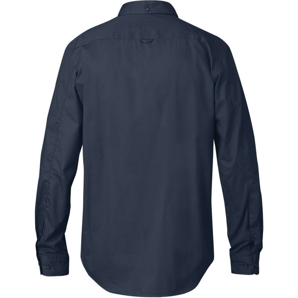 FJÄLLRÄVEN Men's Ovik Solid Twill Long-Sleeve Shirt - DARK NAVY