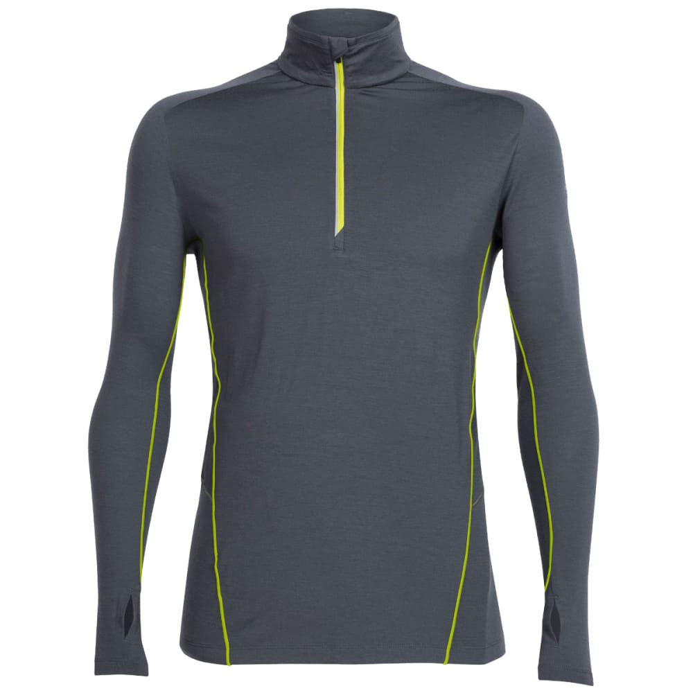 ICEBREAKER Men's Factor Long Sleeve Half Zip - MONSOON/MONSOON/CACT