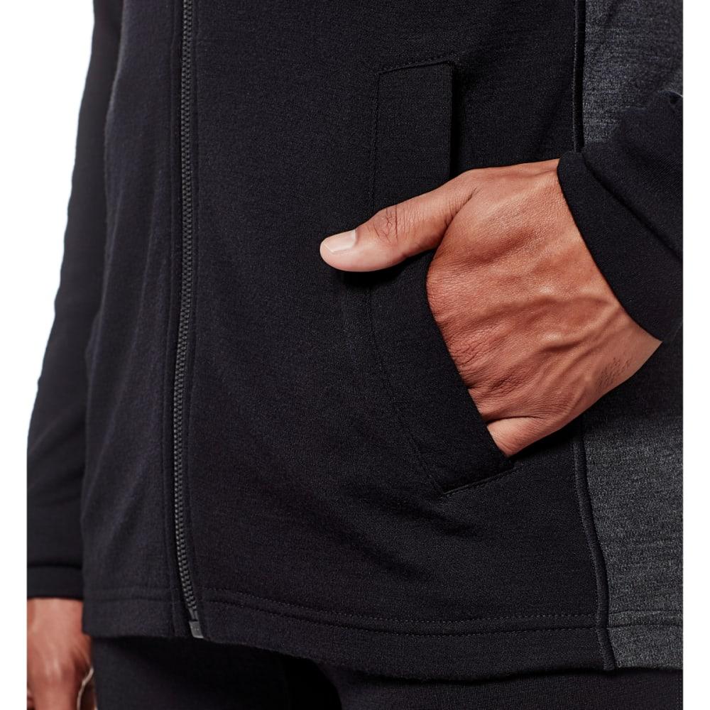 ICEBREAKER Men's Otago Long Sleeve Zip - BLACK/JET HTHR/BLK