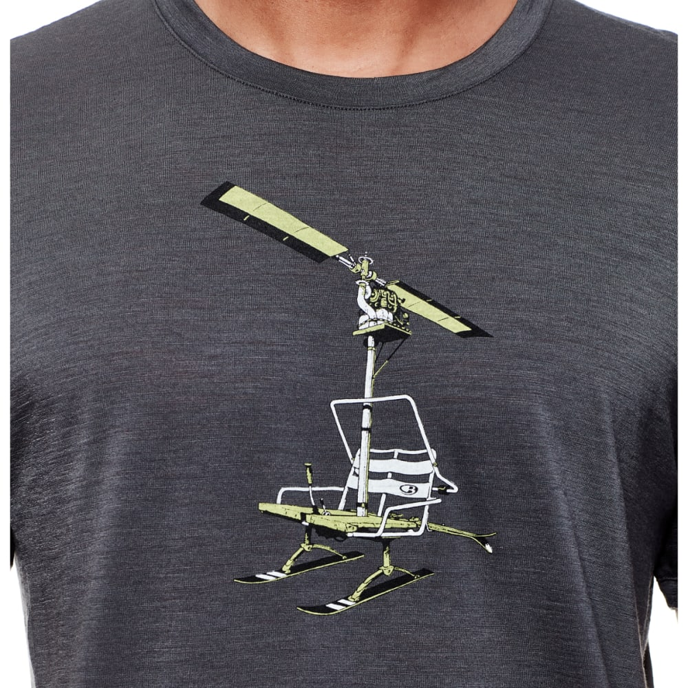 ICEBREAKER Men's Tech Lite Short-Sleeve Crewe, Chair Lifter - MONSOON/CACTUS