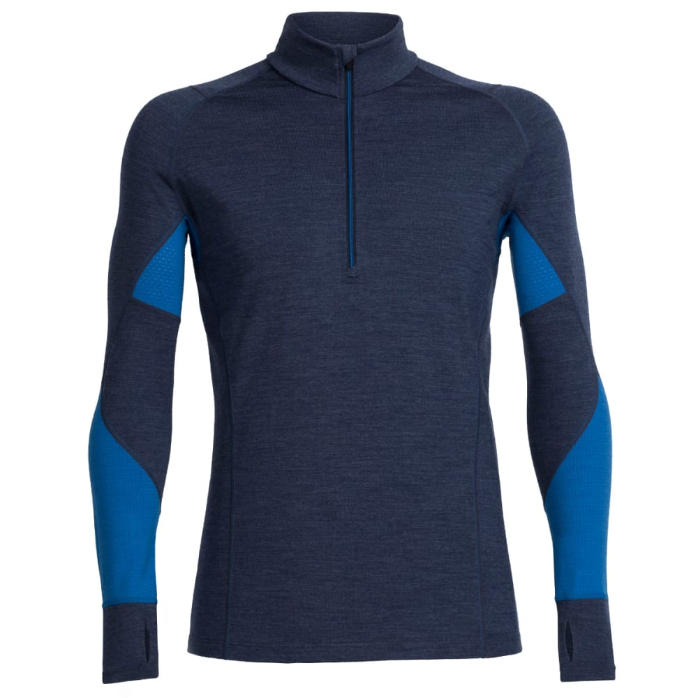 ICEBREAKER Men's BodyfitZONE Winter Zone Long-Sleeve 1/2 Zip - FATHOM H/PLRS/PLRS