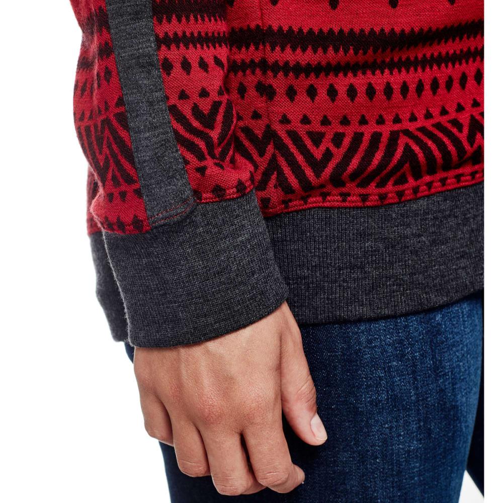 ICEBREAKER Women's Meadow Long-Sleeve Hood Icon, Fairisle - OXBLD/JET H/OXBLD