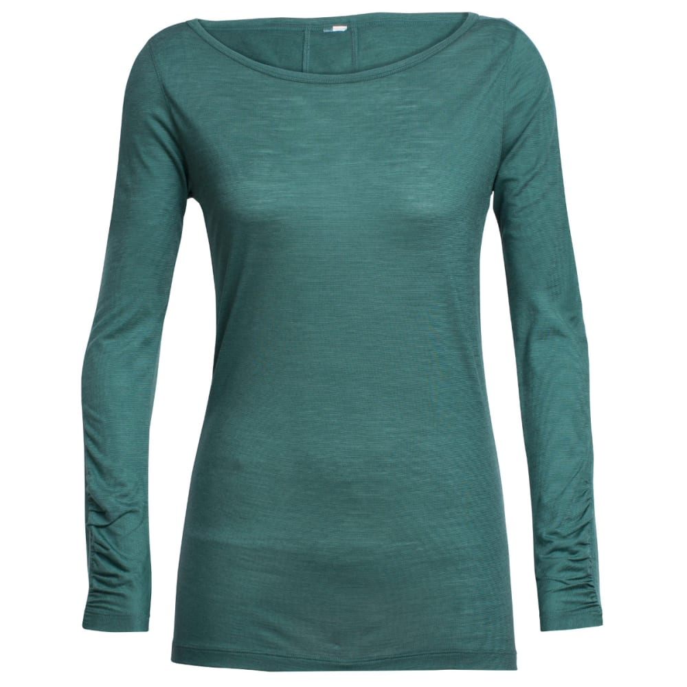 ICEBREAKER Women's Nomi Long-Sleeve Shirt - CANOE/CANOE/SNOW