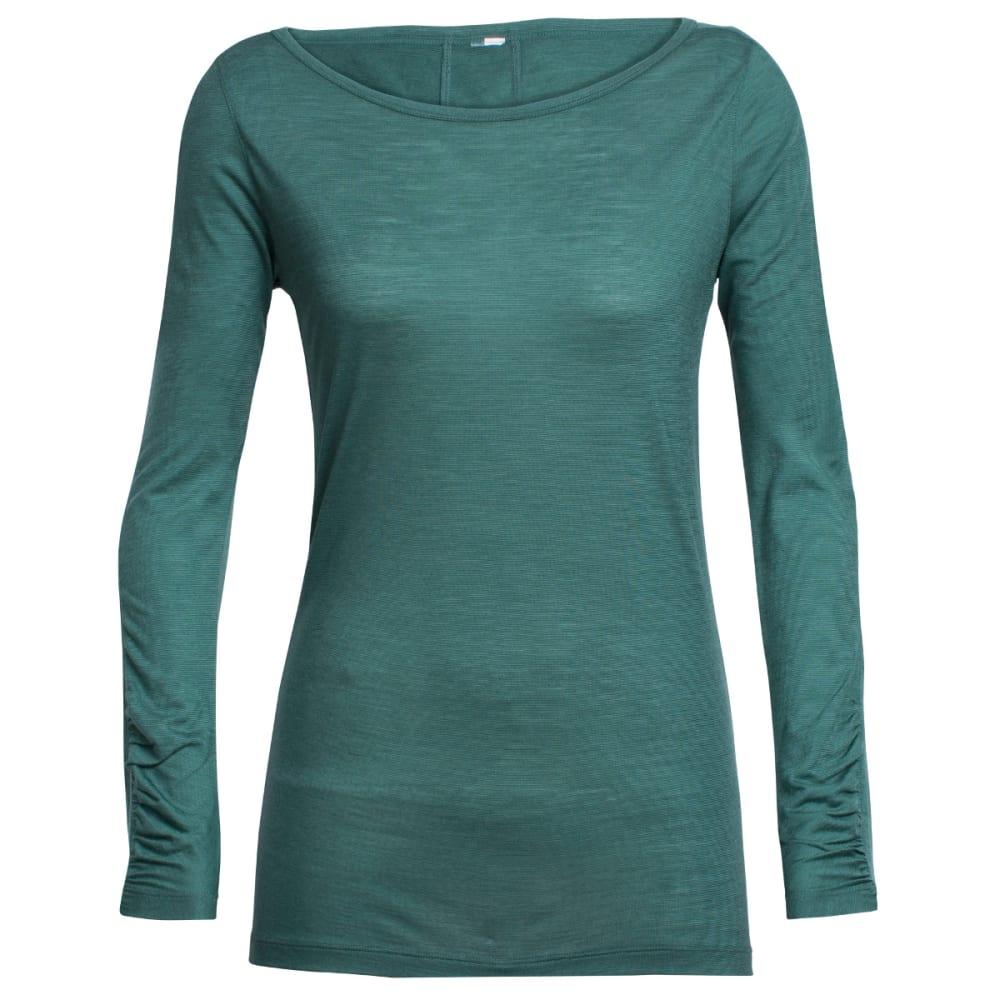 ICEBREAKER Women's Nomi Long-Sleeve Shirt - CANOE/CANOE/SNOW