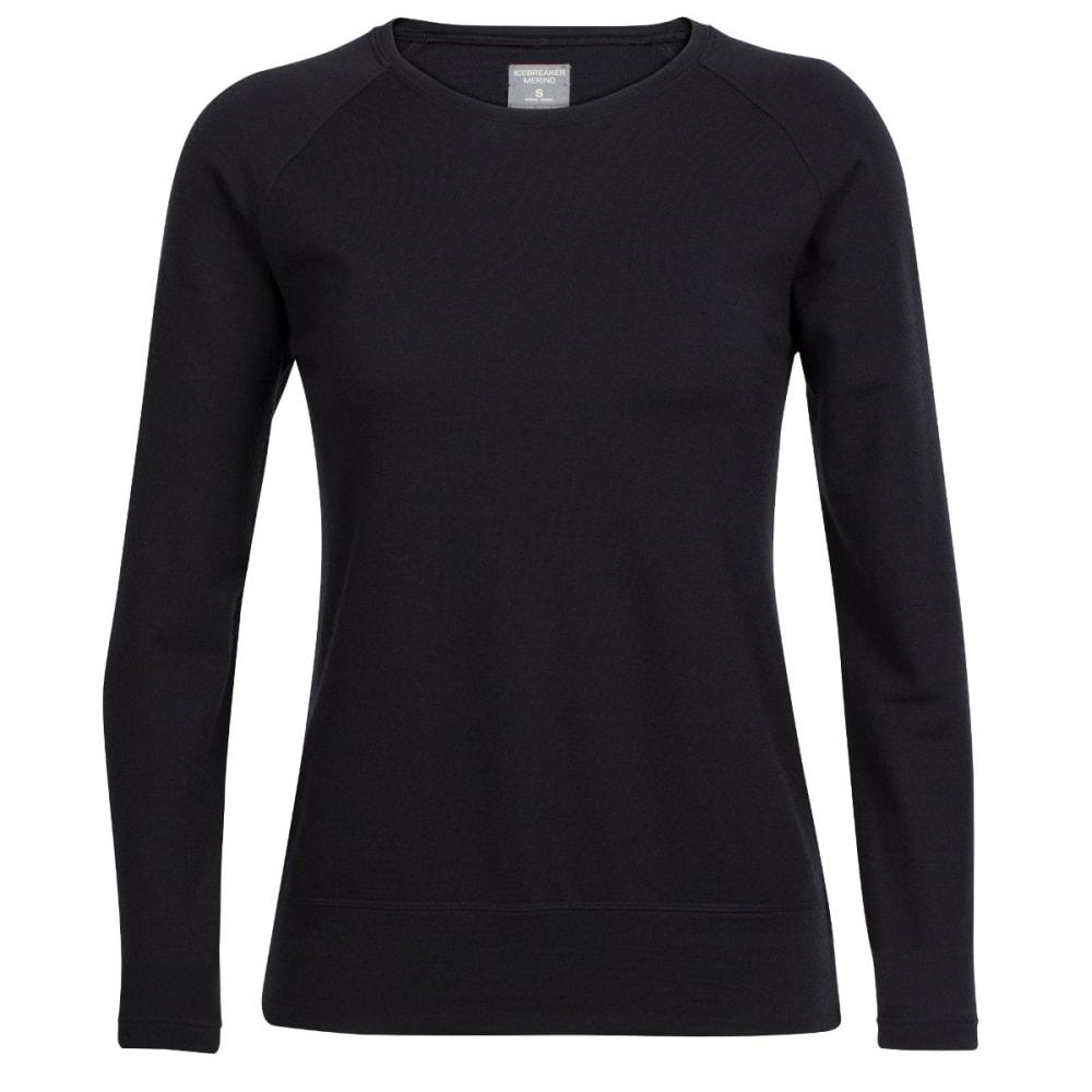 ICEBREAKER Women's Zoya Long-Sleeve Crewe - BLACK/BLACK