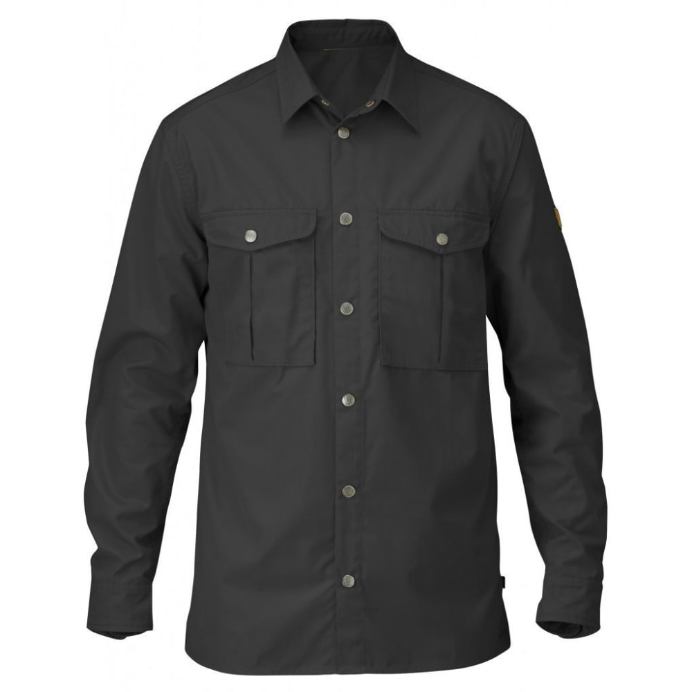 FJALLRAVEN Men's Greenland Long-Sleeved Shirt - DARK GREY