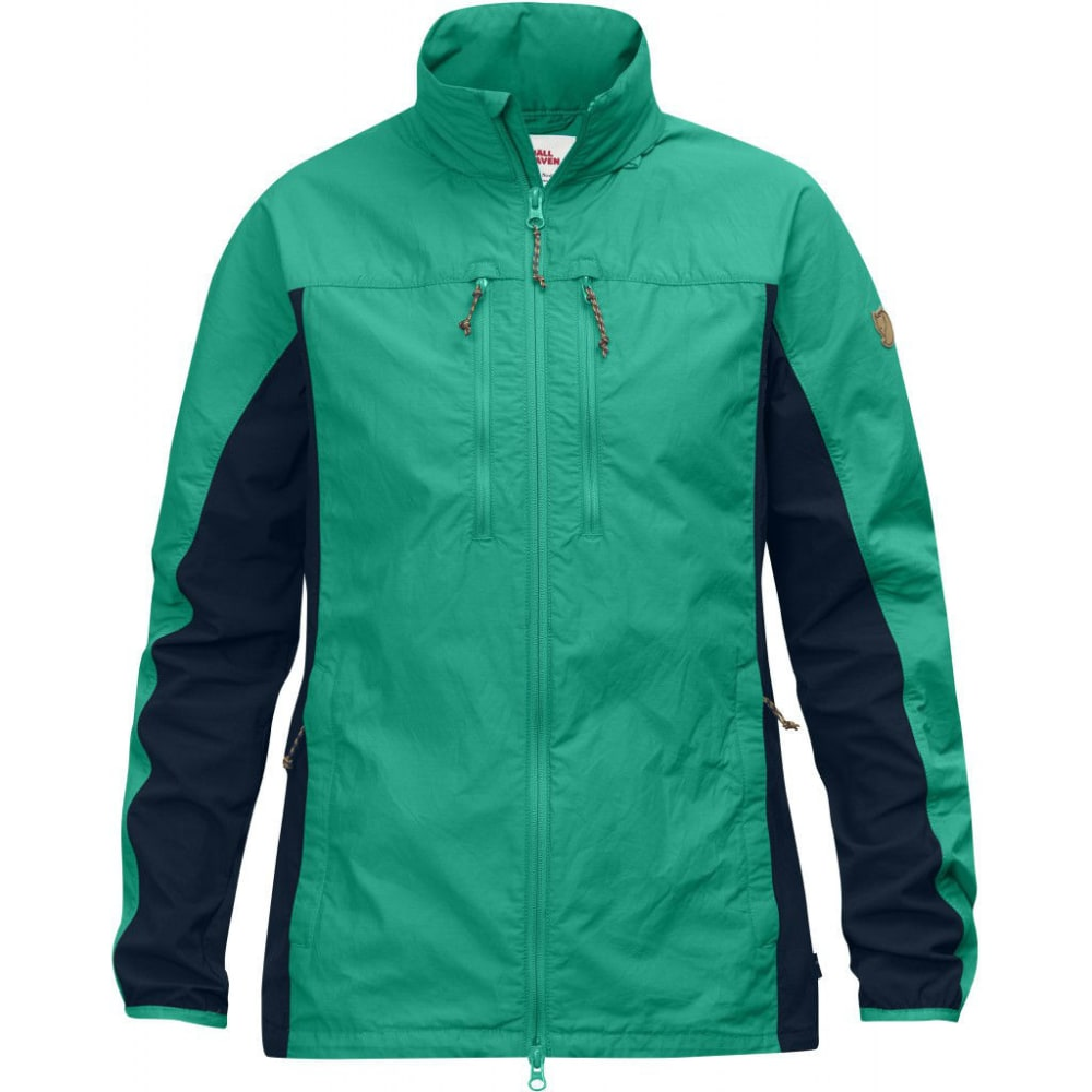 FJALLRAVEN Women's HIgh Coast Hybrid Jacket - COPPER GREEN/NAVY