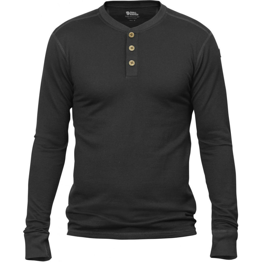FJALLRAVEN Men's Lappland Merino Long-Sleeve Shirt - DARK GREY