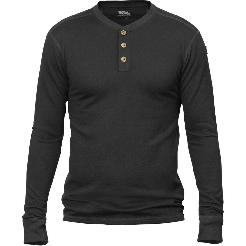 FJALLRAVEN Men's Lappland Merino Long-Sleeve Shirt - DARK GREY