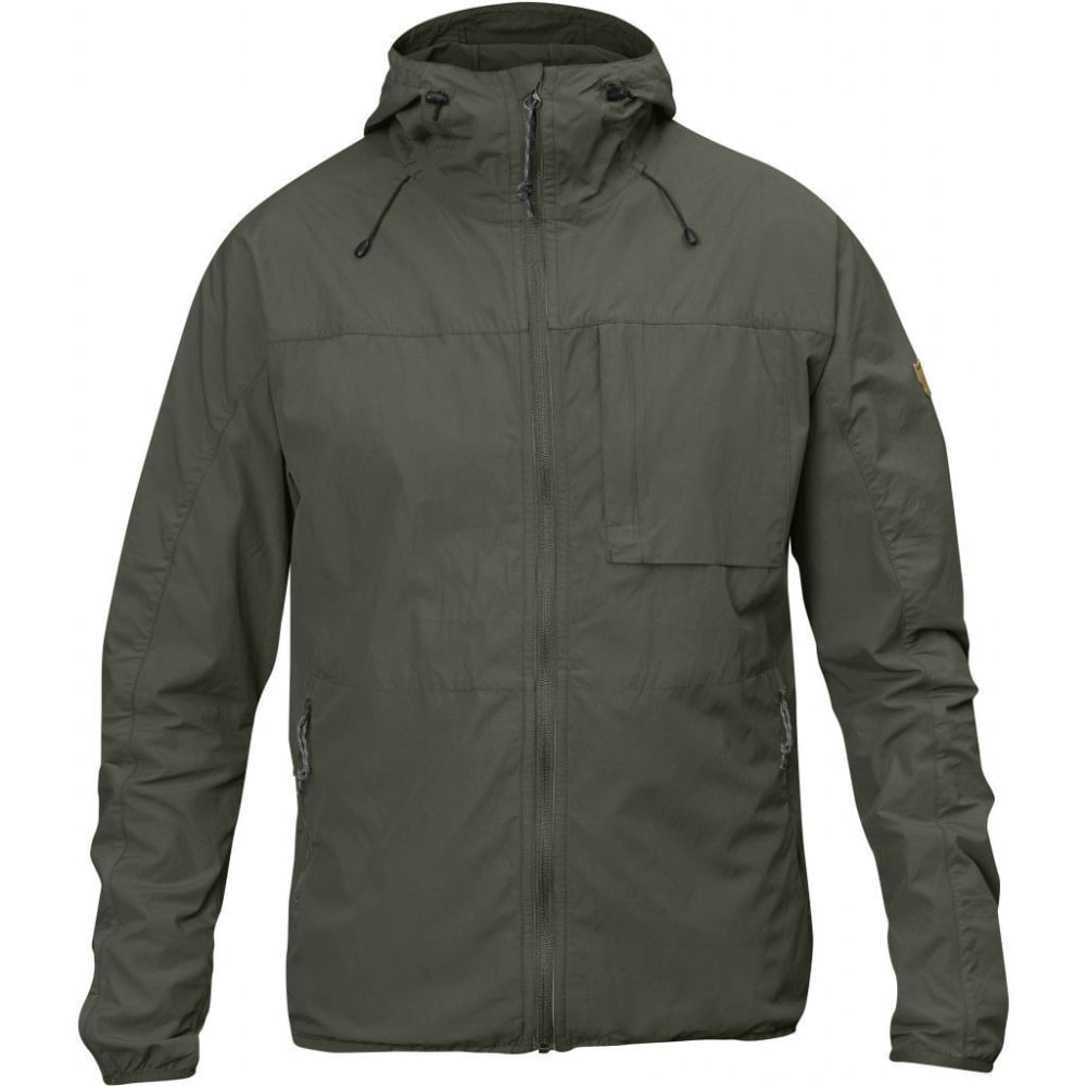 FJALLRAVEN Men's High Coast Wind Jacket - MOUNTAIN GREY