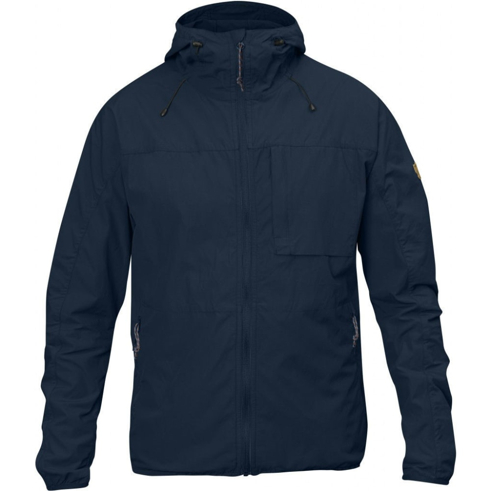 FJALLRAVEN Men's High Coast Wind Jacket - NAVY