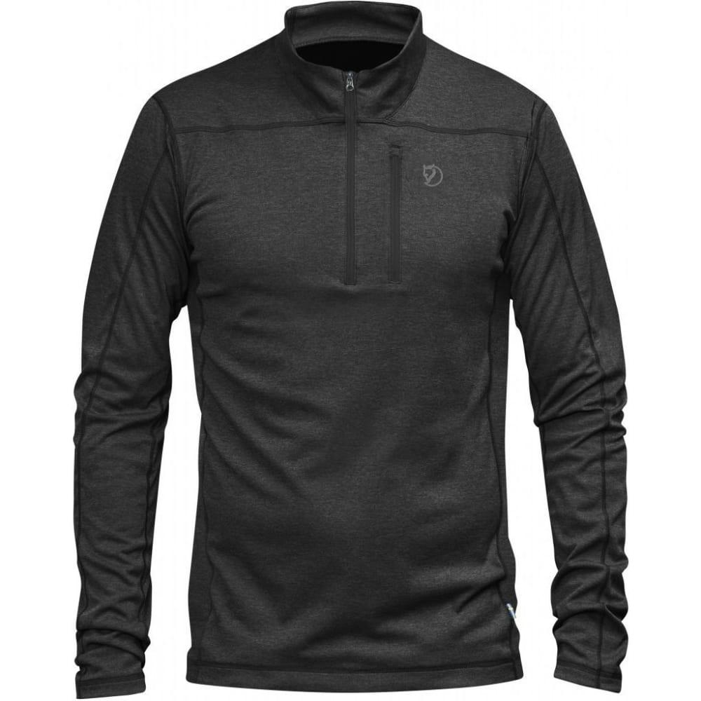 FJÄLLRÄVEN Men's Abisko Vent Zip Long-Sleeve T-Shirt - DARK GREY