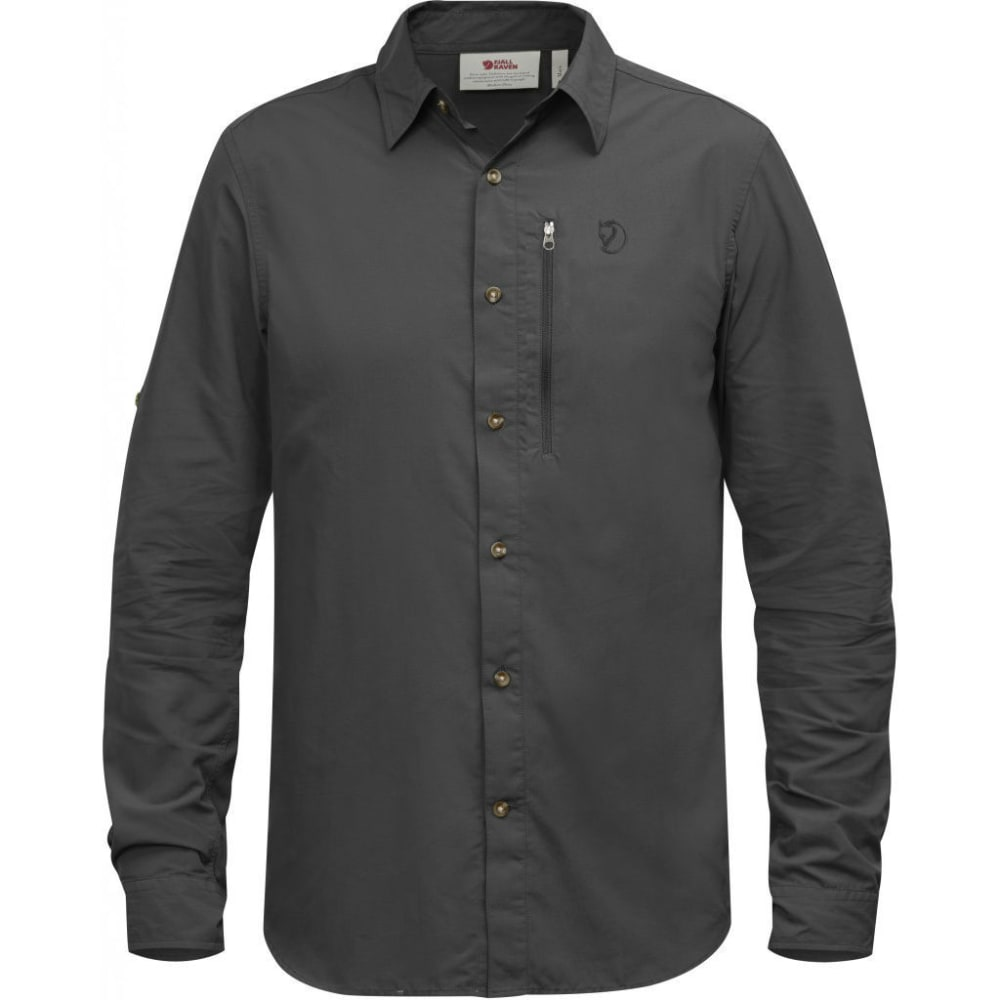 FJÄLLRÄVEN Men's Abisko Hike Long-Sleeve Shirt - DARK GREY