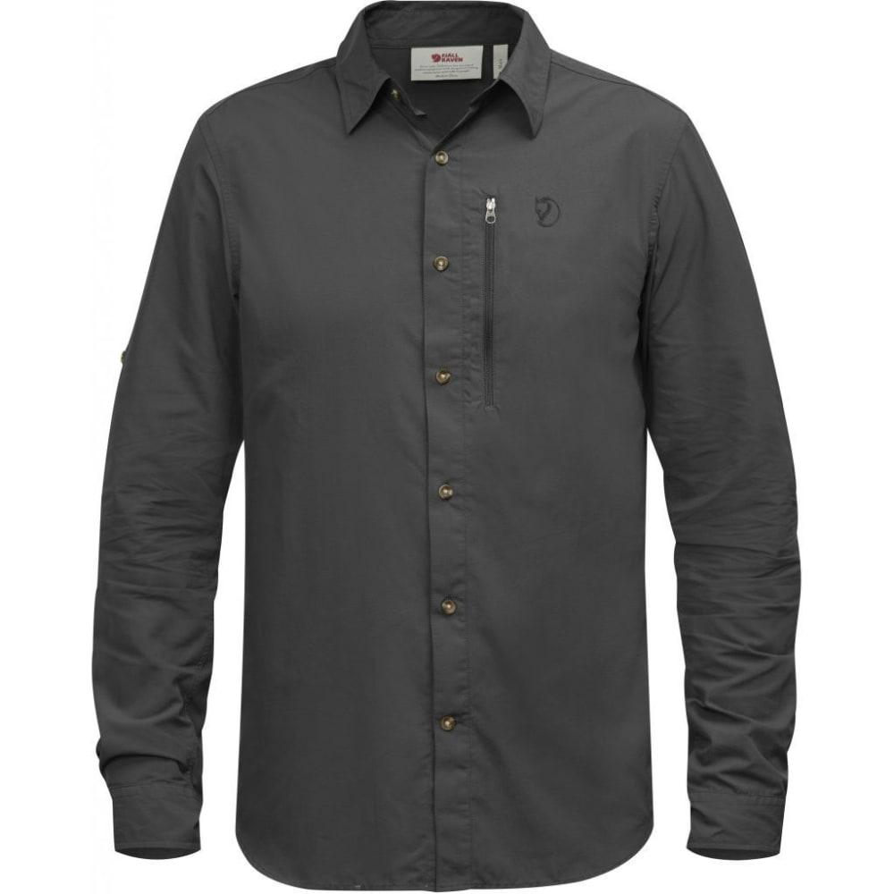 FJÄLLRÄVEN Men's Abisko Hike Long-Sleeve Shirt - DARK GREY