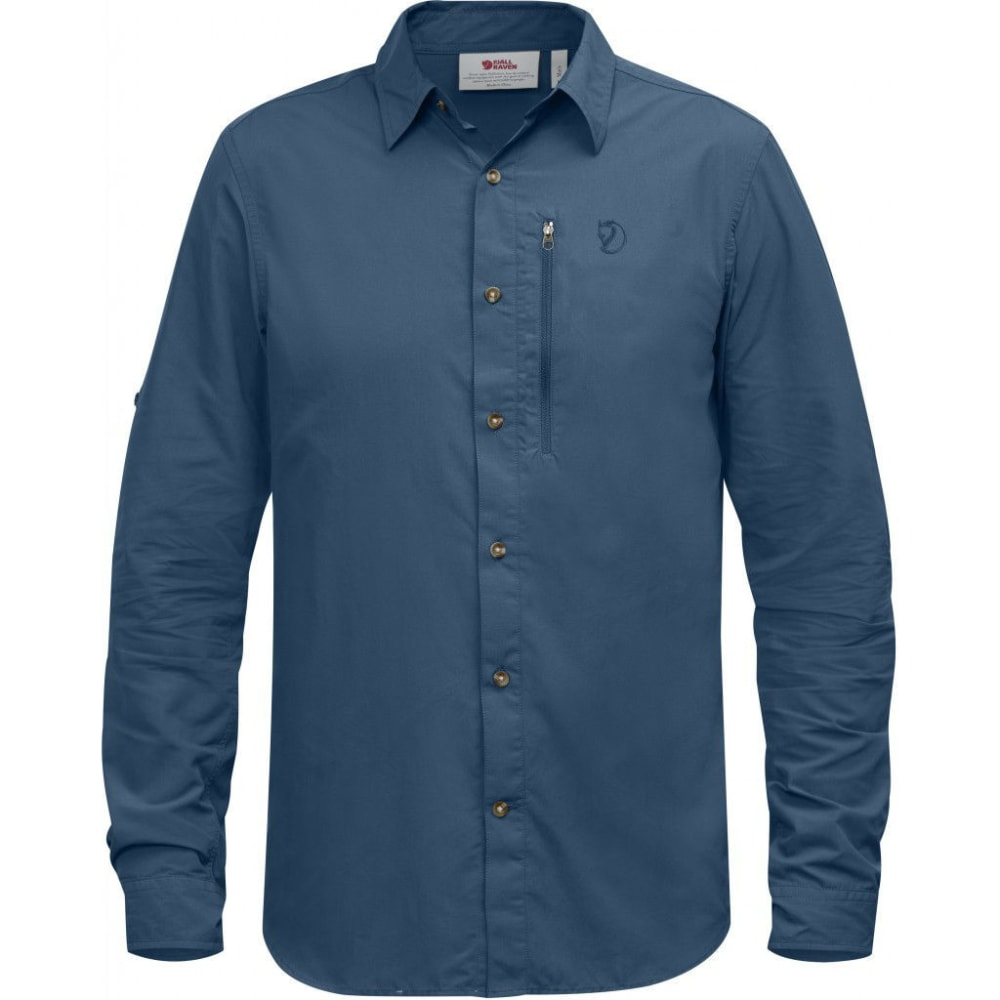 FJ??LLR??VEN Men's Abisko Hike Long-Sleeve Shirt - UN BLUE