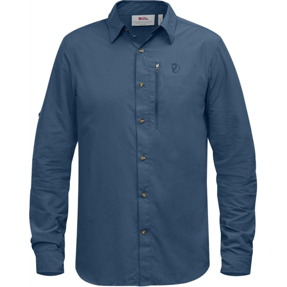 FJÄLLRÄVEN Men's Abisko Hike Long-Sleeve Shirt - UN BLUE
