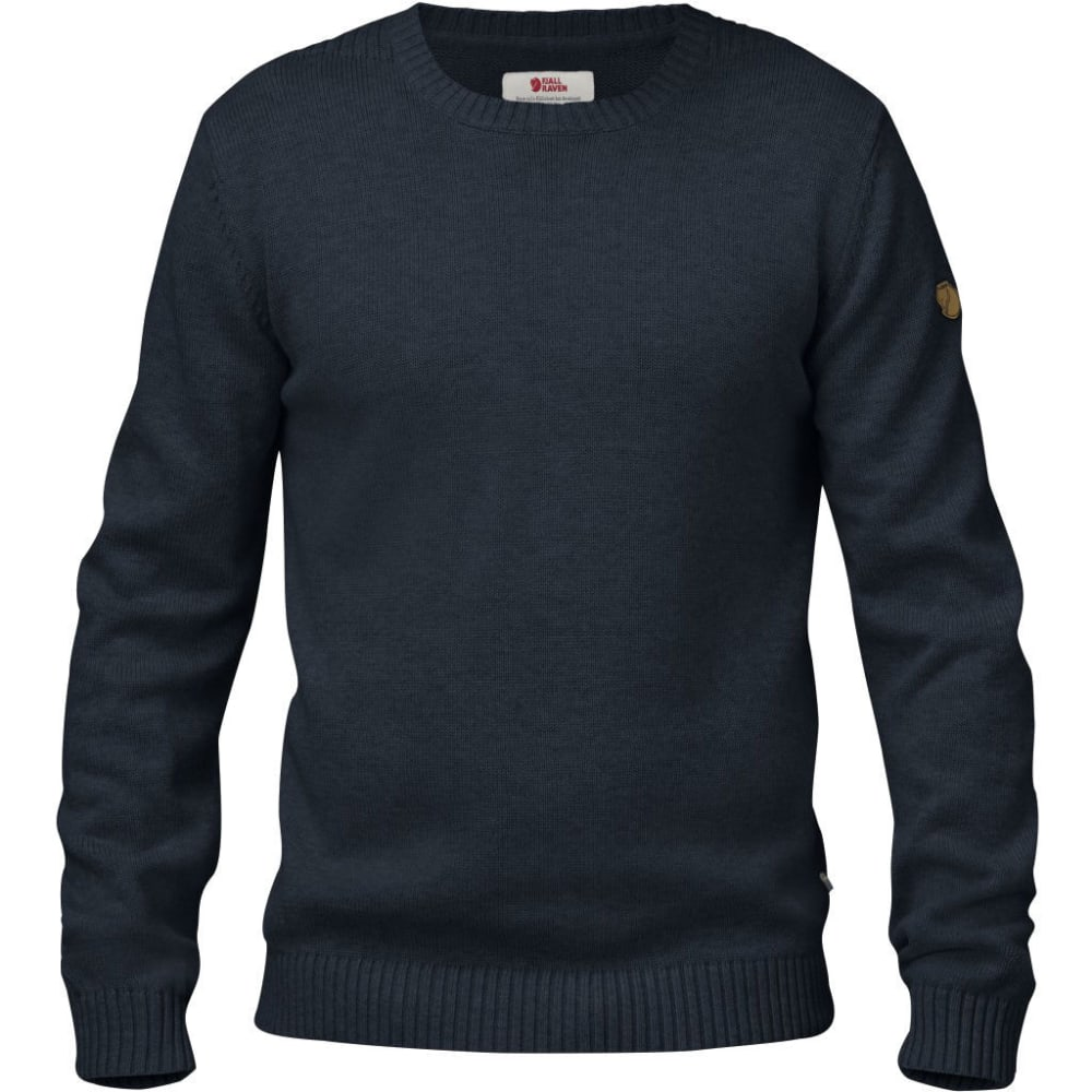 FJALLRAVEN Men's Ovik Knit Crew - DARK NAVY