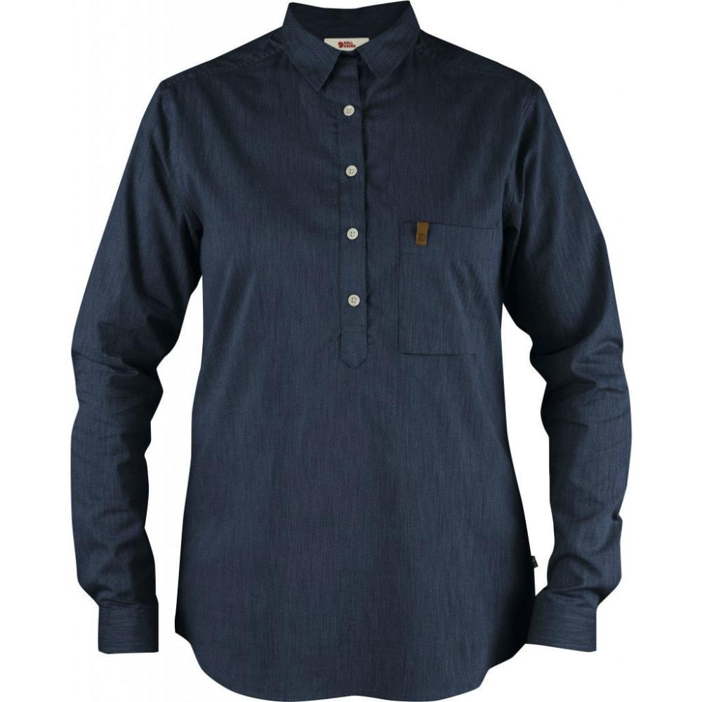 FJÄLLRÄVEN Women's Kiruna Long-Sleeve Shirt - NAVY