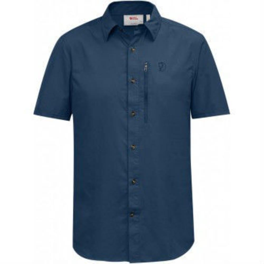 FJÄLLRÄVEN Men's Abisko Hike Short-Sleeve Shirt - UNCLE BLUE