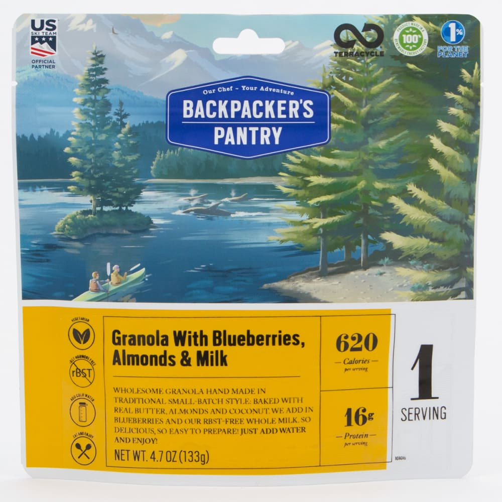 BACKPACKER'S PANTRY Granola with Blueberries and Milk - NO COLOR