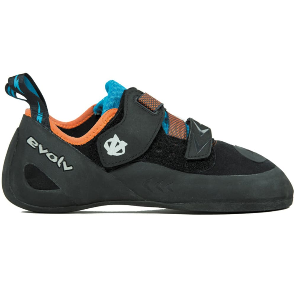 EVOLV Men's Kronos Climbing Shoes - BLACK/ORANGE