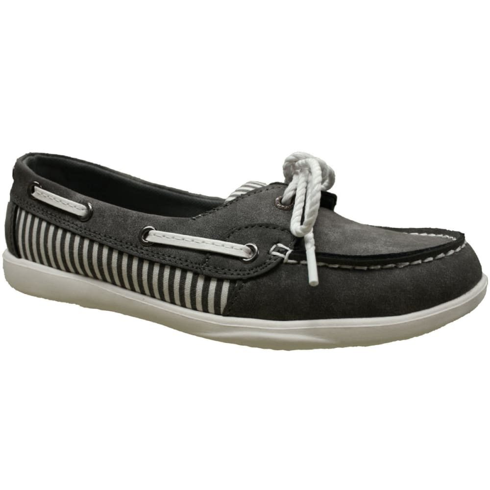 ISLAND SURF Women's Captiva Boat Shoes, Grey - GREY
