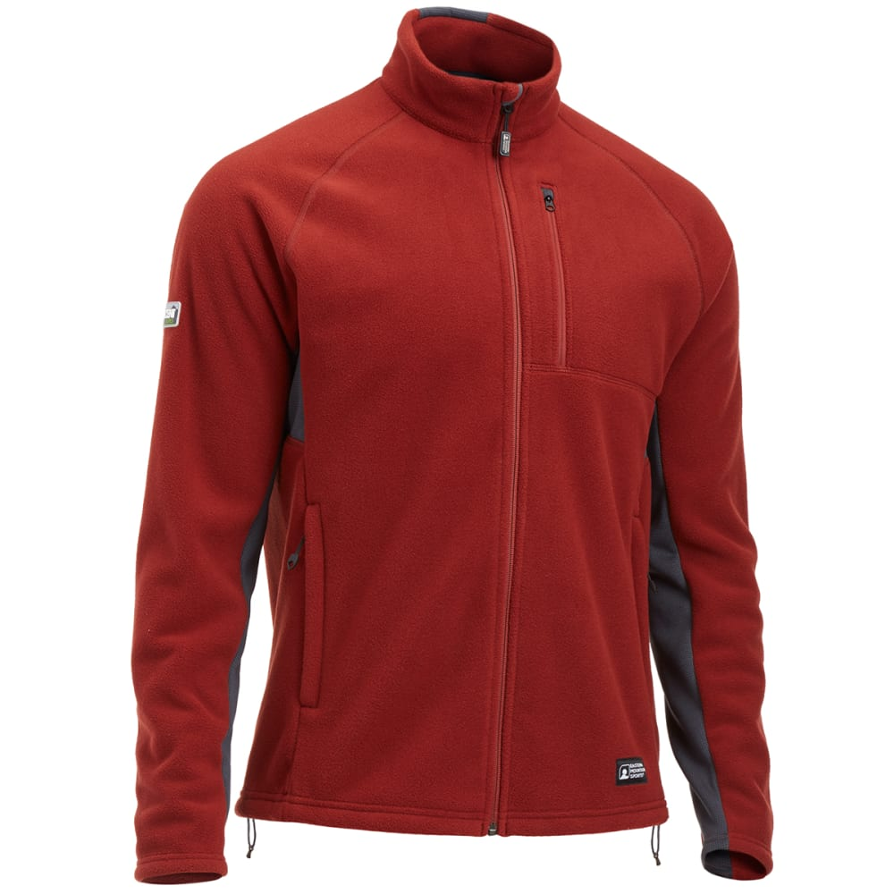 EMS® Men's Divergence Full-Zip Jacket - FIRED BRICK/EBONY