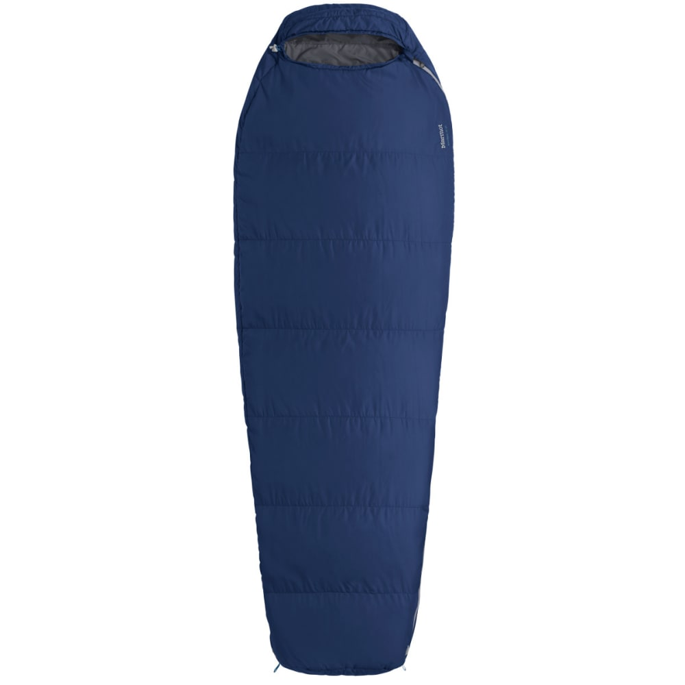 MARMOT NanoWave 50 Semi-Rectangular Sleeping Bag, Long - DEEP BLUE