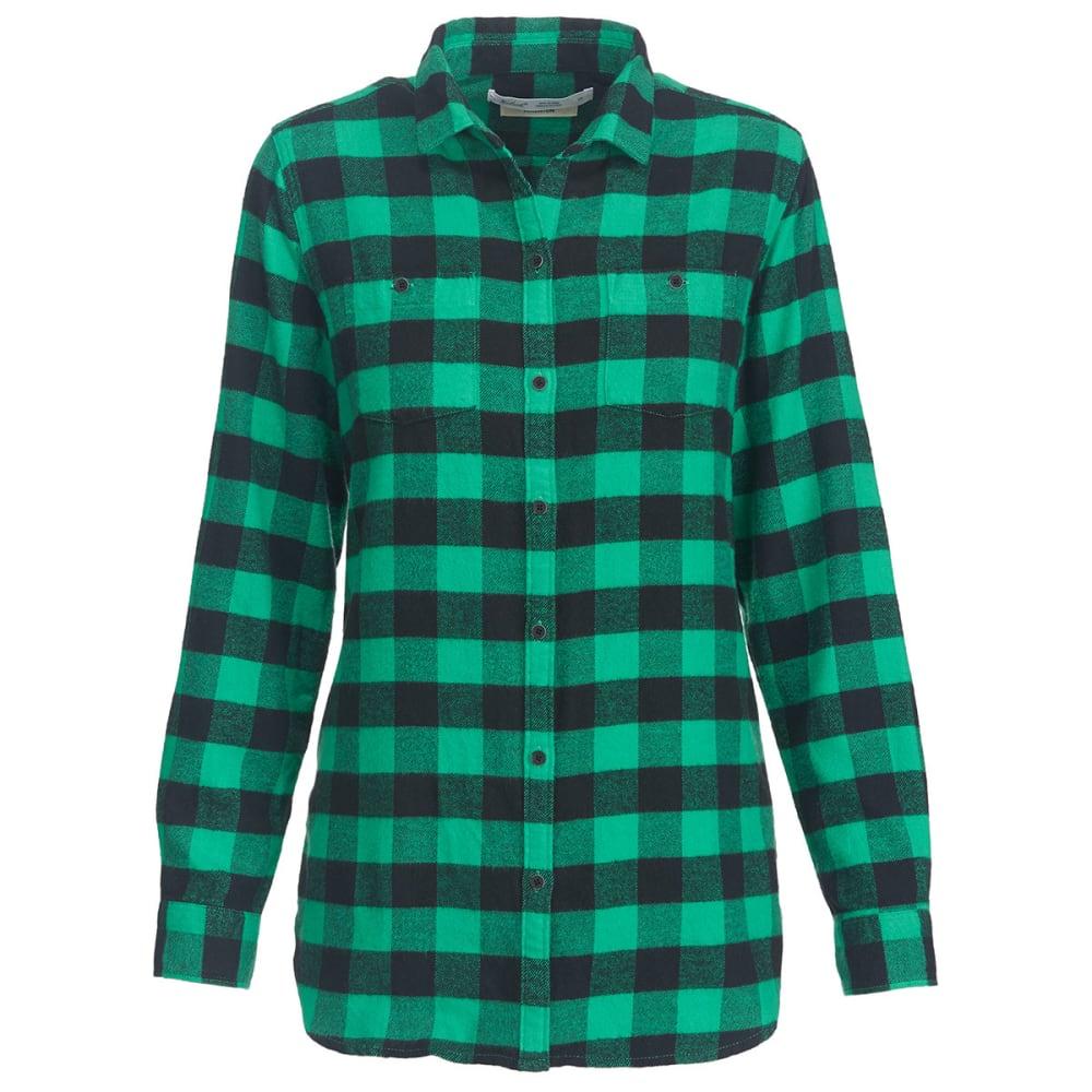WOOLRICH Women's Buffalo Check Boyfriend Shirt - WINTERGREEN CHECK