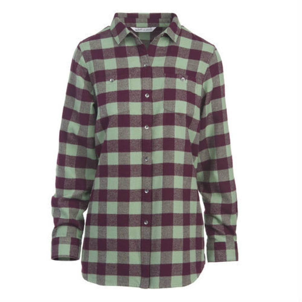 WOOLRICH Women's Buffalo Check Boyfriend Shirt - FIG CHECK