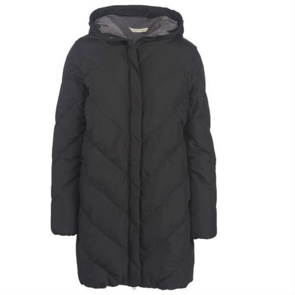 WOOLRICH Women's Cozy Crest Hooded Jacket - BLACK