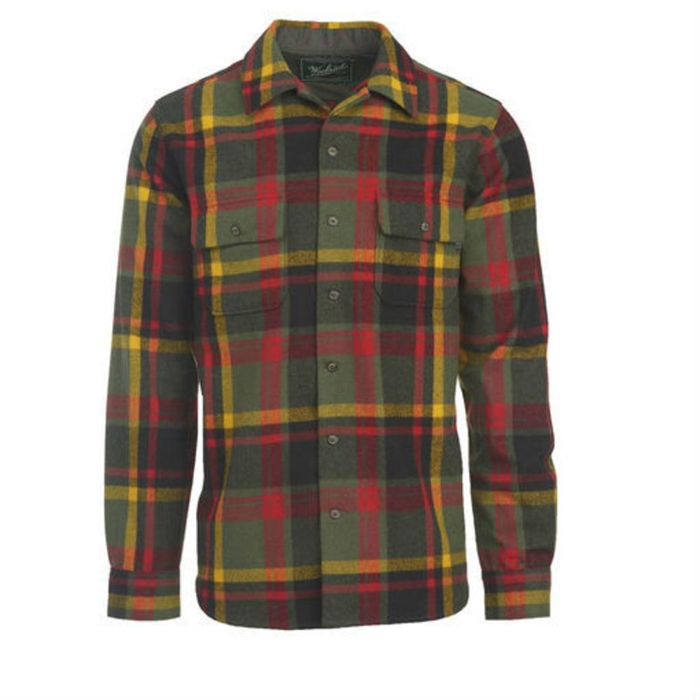 WOOLRICH Men's Bering Wool Shirt - BLACK MULTI