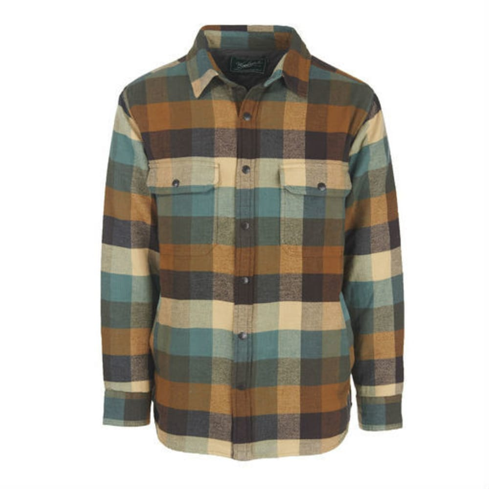 Woolrich men 39 s oxbow bend lined flannel shirt jac for Fleece lined flannel shirt