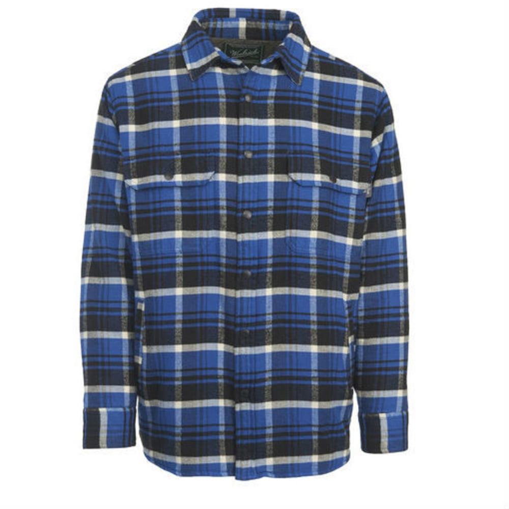 WOOLRICH Men's Oxbow Bend Lined Flannel Shirt Jac - DARK COBALT