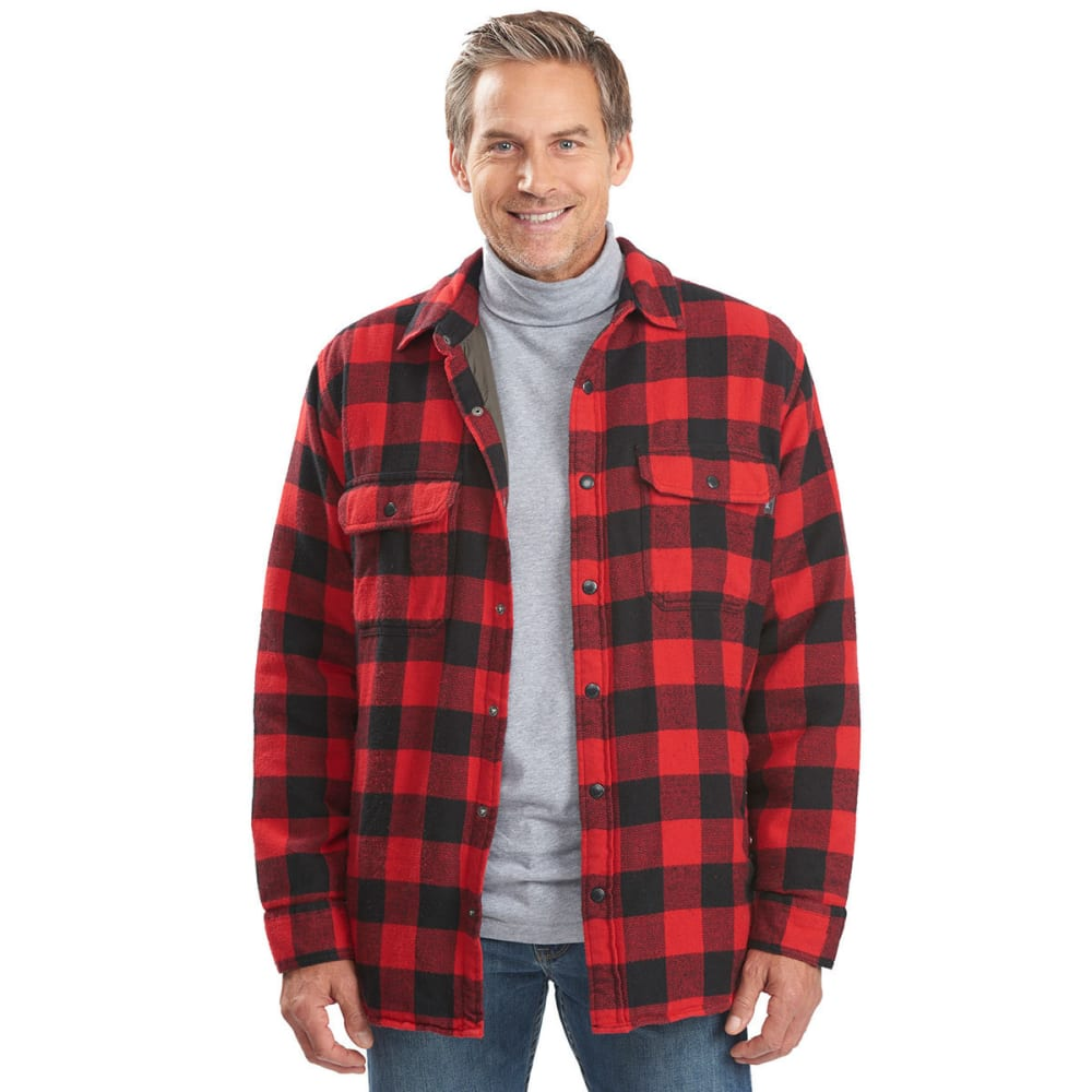 WOOLRICH Men's Oxbow Bend Lined Flannel Shirt Jac - OLD RED BUFFALO