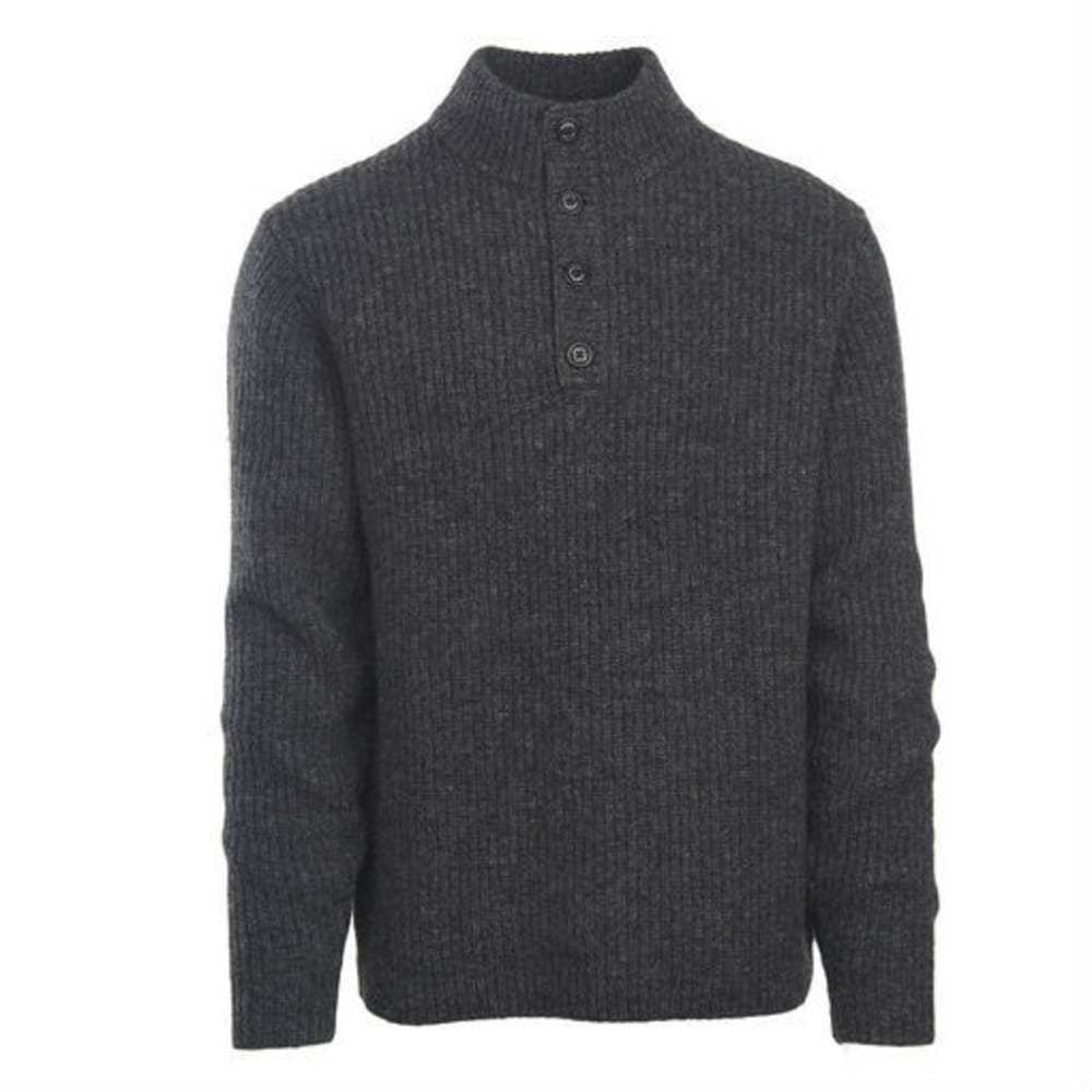 WOOLRICH Men's The Woolrich Sweater - CHARCOAL HEATHER