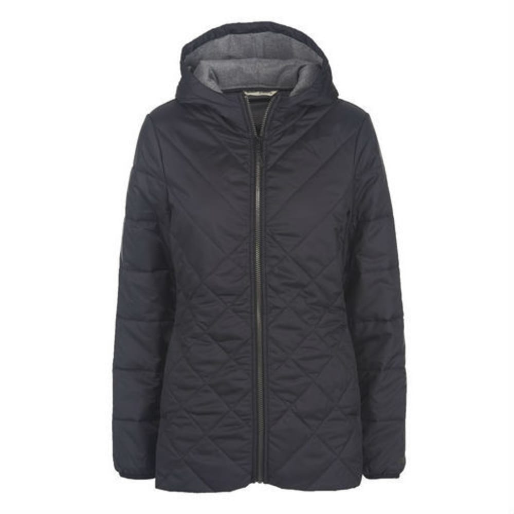WOOLRICH Women's Wool Insulated Long Jacket - BLACK