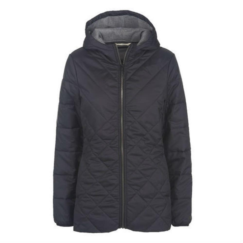 WOOLRICH Women's Wool Insulated Long Jacket - BLACK