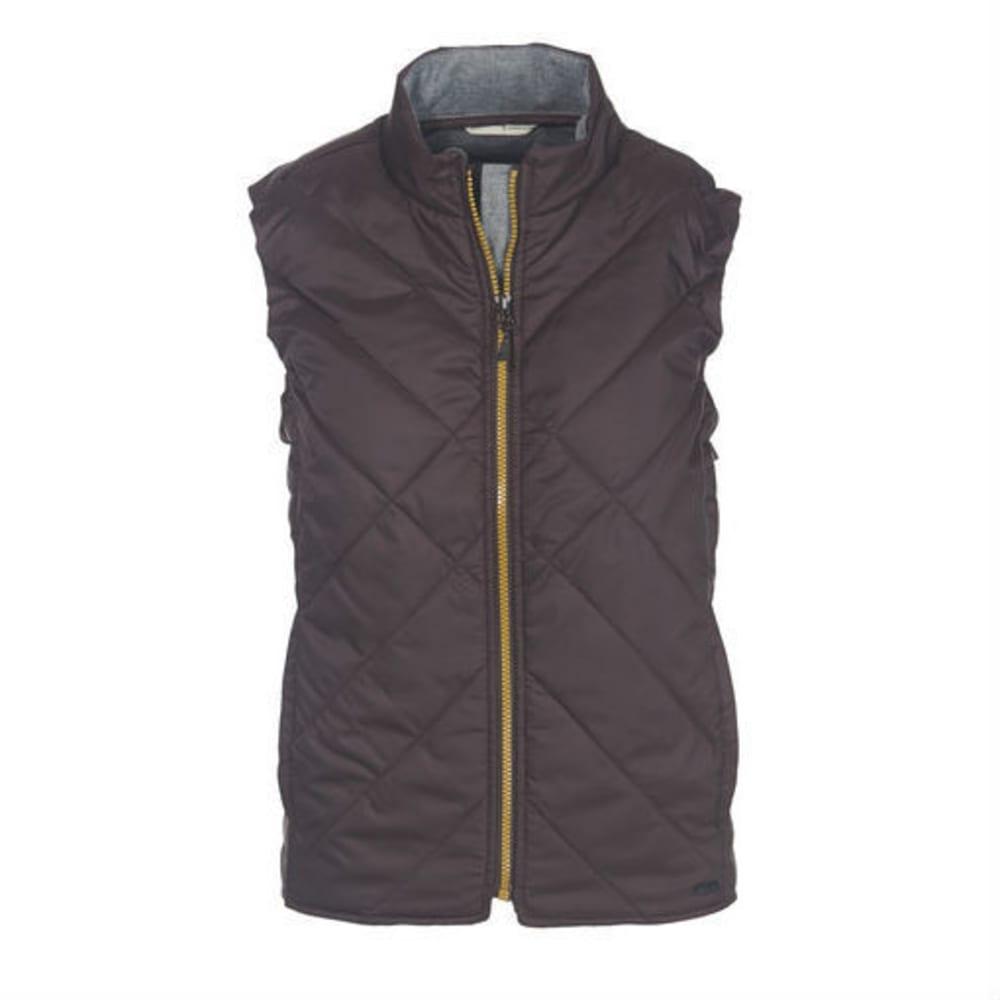WOOLRICH Women's Wool Insulated Vest - BURGUNDY